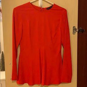 NWOT Zara Long Sleeve Peplum Top